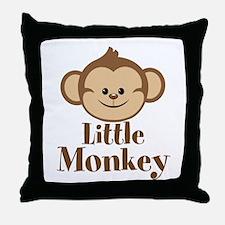 Cute Little Monkey Throw Pillow