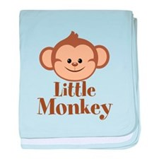 Cute Little Monkey baby blanket