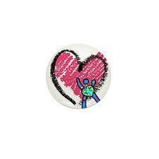 CdCS Heart Design Mini Button