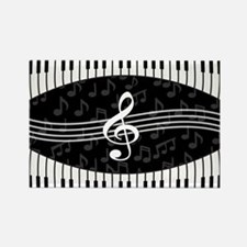 Stylish designer piano and music notes Magnets