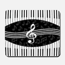 Stylish designer piano and music notes Mousepad