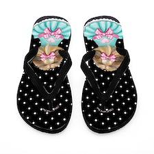 Miss Pretty Yorkie Flip Flops