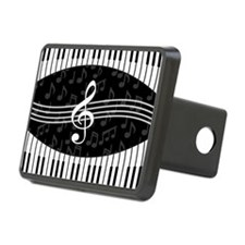 Stylish designer piano and music notes Hitch Cover