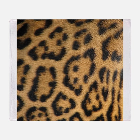 Leopard fur Throw Blanket