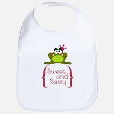 Sweet and Sassy Frog Princess Bib
