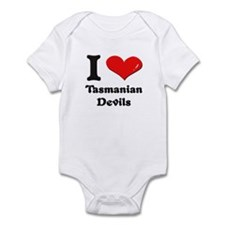 I love tasmanian devils  Infant Bodysuit