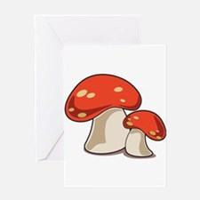 Mushrooms Greeting Cards