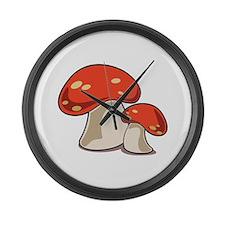 Mushrooms Large Wall Clock