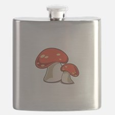 Mushrooms Flask