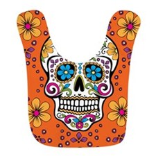 Sugar Skull ORANGE Bib
