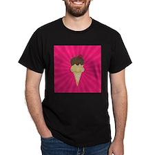 Ice Cream Cone on Pink T-Shirt