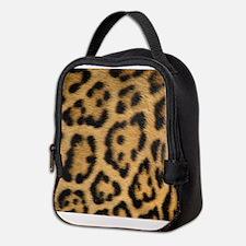 Leopard fur Neoprene Lunch Bag