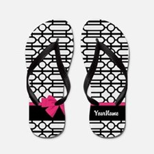 Bow Pattern Background Flip Flops