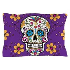 Sugar Skull PURPLE Pillow Case