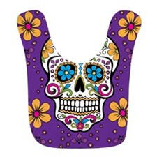 Sugar Skull PURPLE Bib