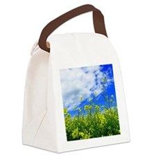 Canola Field Canvas Lunch Bag