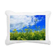 Canola Field Rectangular Canvas Pillow
