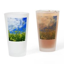 Canola Field Drinking Glass