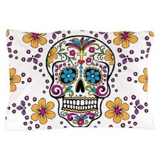 Sugar Skull WHITE Pillow Case