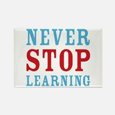 Never Stop Learning Rectangle Magnet