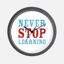 Never Stop Learning Wall Clock