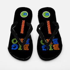 Big Brother Monogram Flip Flops