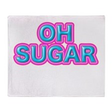 OH SUGAR Throw Blanket
