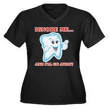 Cavities Dentist Women's Plus Size V-Neck Dark T-S