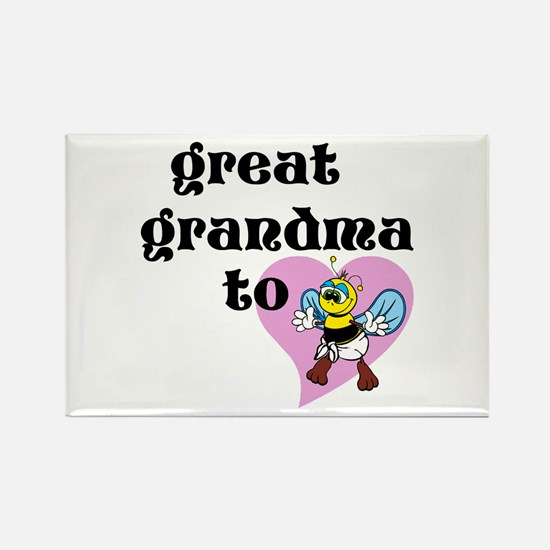 Heart Great Grandma To Bee Magnets