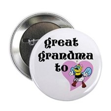 "Heart Great Grandma To Bee 2.25"" Button"