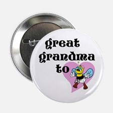 """Heart Great Grandma To Bee 2.25"""" Button"""