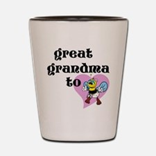 Heart Great Grandma To Bee Shot Glass