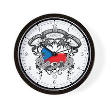Czech Republic Soccer Wall Clock