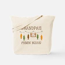 Gone Fishing Line Grandpa Tote Bag
