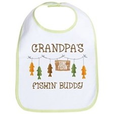 Gone Fishing Line Grandpa Bib