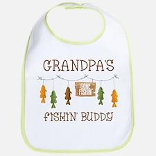 Gone Fishing Line Grandpa Bib