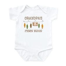 Gone Fishing Line Grandpa Infant Bodysuit