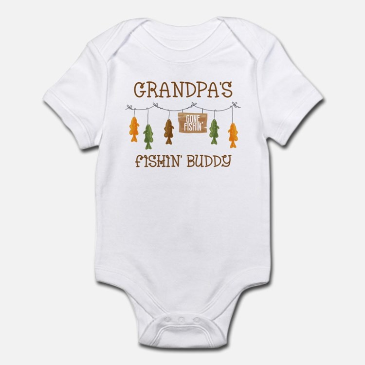 Gone Fishing Line Grandpa Infant Bodysuit