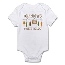 Gone Fishing Line Grandpa Onesie