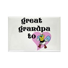Heart Great Grandpa To Bee Magnets