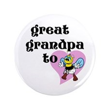 "Heart Great Grandpa To Bee 3.5"" Button"