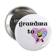 "Heart Grandma To Bee 2.25"" Button"
