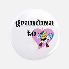 "Heart Grandma To Bee 3.5"" Button"