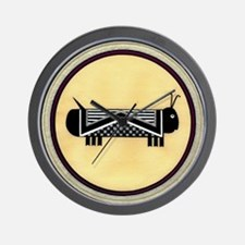 MIMBRES CATERPILLAR BOWL DESIGN Wall Clock