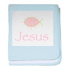 Joyful Christian Fish Symbol baby blanket