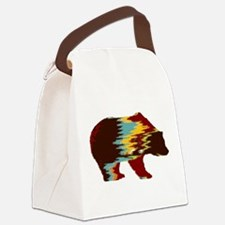Artistic Rustic Bear Canvas Lunch Bag