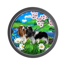 Cavalier King Charles Spaniel Dogs Wall Clock