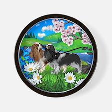 Cavalier King Charles Spaniel Dogs Wall Clock