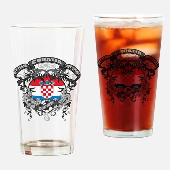 Croatia Soccer Drinking Glass