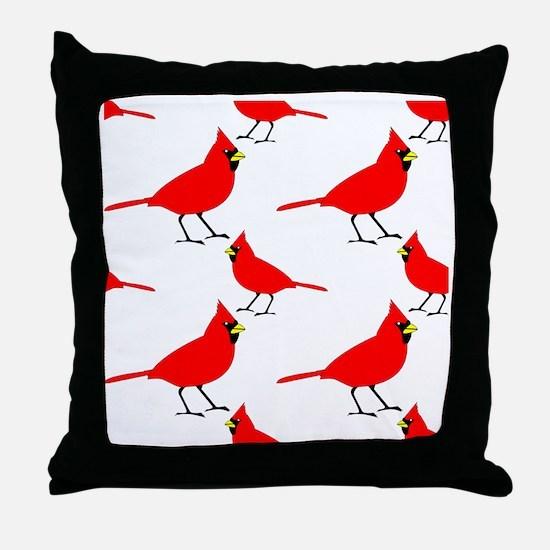 Cardinal Pattern Throw Pillow